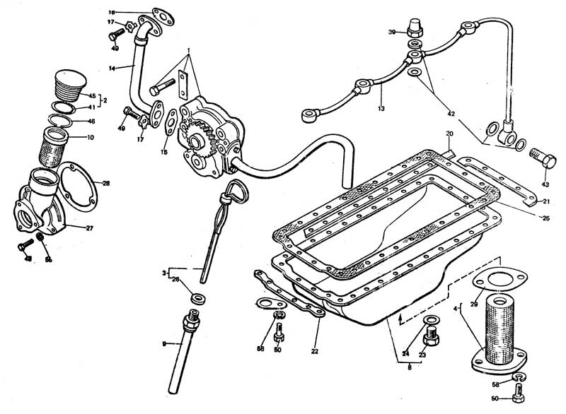 Lubrication System 1401 Engine Oil Sump